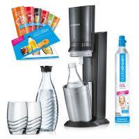 SodaStream CRYSTAL 2.0 Promopack, Wassersprudler (1216512493)