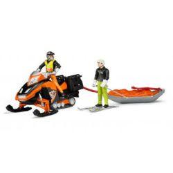 Snowmobil mit Fahrer, Akia-Rettungsschlitten und S