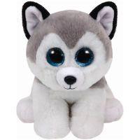 TY Buff Spielzeug-Hund Schwarz - Grau - Weiß
