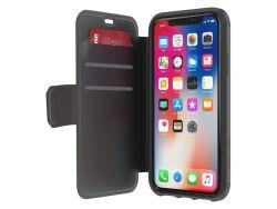 Griffin Survivor Case Strong Wallet für iPhone X, Schwarz Grau