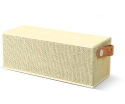 FRESH 'N REBEL Rockbox Brick Fabriq Edition BT Speaker, Buttercup (1RB3000BC)