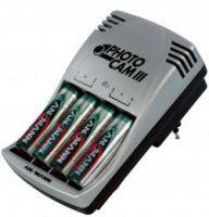 ANSMANN Akkusteckerladegerät Photo Cam III für 4 Akkus 4 x AA NiMH Akkus 2850 mAh