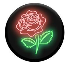 PopSockets Grip Neon Rose