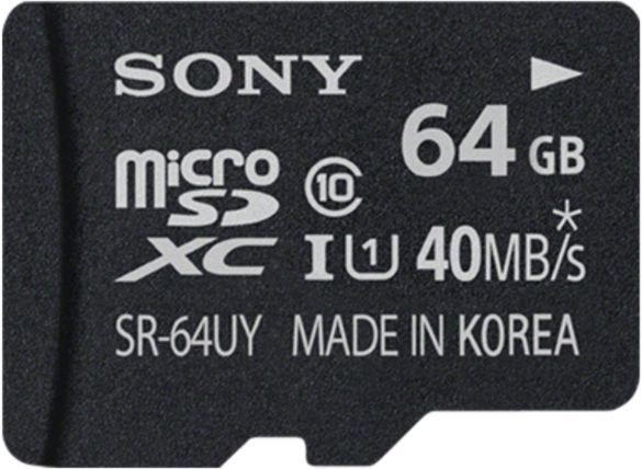 Sony microSDXC 64GB Kit, UHS-I/Class 10