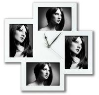 ZEP Bergamo white 4x13x18 Holz Uhr