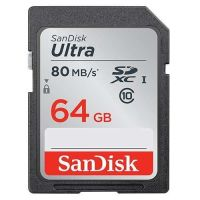 SanDisk Ultra SDXC UHS-I    64GB 80MB/s Cl. 10 SDSDUNC-064G-GN6IN