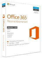 MICROSOFT MS O365 Personal Mac/Win German Subscription P4 EuroZone 1 License Medialess 1 Year (QQ2-0