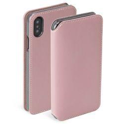 Krusell Pixbo 4 Card Book Case für iPhone XS Max, Rose