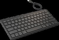 Zagg kabelgebundene Tastatur mit Lightninganschluss, No Retail Packaging, schwarz