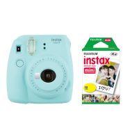 Fujifilm instax mini 9 set   Neu inkl. Film eisblau