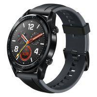 Huawei Watch GT Sport, schwarz, Silikonarmband
