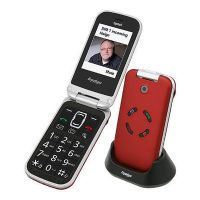 Tiptel Mobiltelefon Ergophone 6122 GSM rot (1056122)