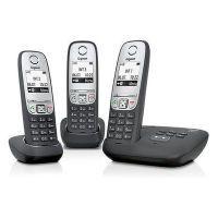 Gigaset Schnurlostelefon mit Anrufbeantworter + zwei Mobilteile A415A Trio