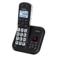 Emporia GD61AB schwarz-silber DECT Schnurlostelefon mit volldigitalem AB