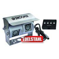 Snooper Rückfahrkamera mit zwei Kameramodulen, 20 m Kabel, Anschlußbox 12/24V