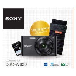 Sony Sony Digitale Kompaktkamera 20 MP + Tasche + 8 GB SD DSCW830BDI.YA