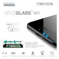 nevox NEVOGLASS 3D - Apple iPhone 8 curved glass mit Easy App schwarz