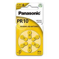 "D""rr PANASONIC ZinC/AIR Button Cell PR-10L 100mAh. 1.45V/6 (980285)"