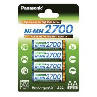 1x4 Panasonic High Capacity AA 2500 mAh Mignon     BK-3HGAE/4BE