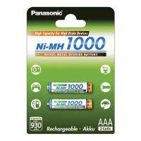 1x2 Panasonic High Capacity AAA 930 mAh Micro       BK-4HGAE/2BE