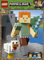 21149 Minecraft BigFig Alex mit Huhn, Konstruktion