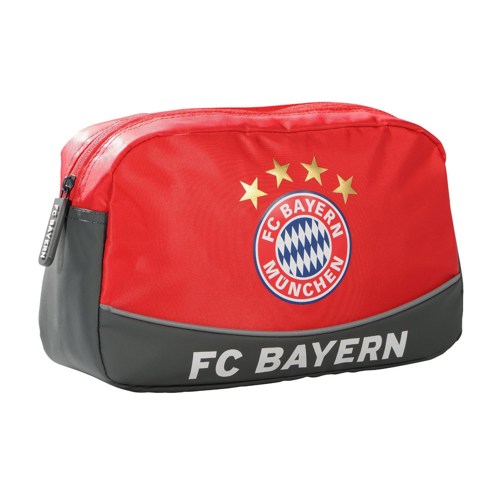 Kulturbeutel FC Bayern Saison 2017/18 grau/rot