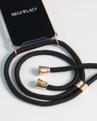 NECKLACY Necklace Case for iPhone XR Elegant Black