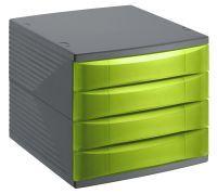 ROTHO Bürobox 4 Schübe geschlossen QUADRA (1108005519)