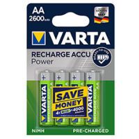 Varta Mignonzelle AA Akku 2600 mAh 4 Stk Ready to use