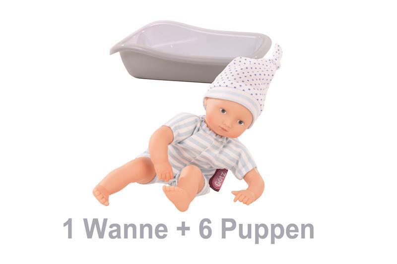 Götz-Puppe AQUINI 33CM BOY (1WANNE+6 PU)