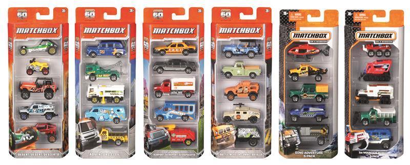 Mattel MATCHBOX 5ER GESCHENKSET S
