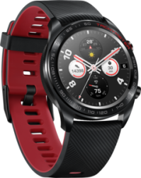 Honor Watch - Meteorite Black + Red Silicone Strap