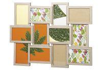 Galerierahmen 12 Bilder mit Passepartout Bildformat 10x15cm Eiche (W-545-17_Kalk)