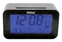 MEBUS digi.Funkwecker 7,1x12x4,8cm g (51460)