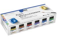 KREUL Acryl Metallicfarben Basis Set 6 x 20 ml (77600)