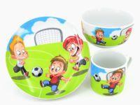 RETSCH Kindergeschirr Porzellan Fussball 3tlg. (95811031)