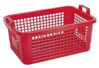 LOCKWEILER Wäschekorb 45 l 62x43x25cm weiß,rot,blau ()