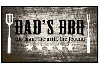 MD-ENTREE Grillteppich 220 dad's bbq the man 67x120cm (7101612220)