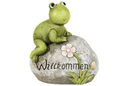 "Gartenfrosch a.Stein""Willkomme (9321092)"