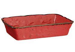 DOMESTIC Auflaufform rechteck.30cm rot (336014)