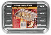 BBQ Grill Tablett Edelstahl 34,5 x 24 x 2,5 cm. (34825)