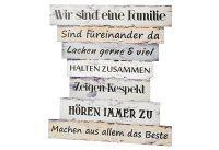Schild Familienregeln II Holz 30x32cm (43122)