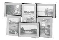 Galerierahmen Portland Aluminium für 6 Fotos à 10x15cm 31x48cm silber (635697)