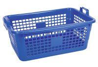 LOCKWEILER Wäschekorb 85 l 80x55x30cm weiß,rot,blau (396/80)