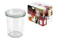 WECK Rundrandglas Einkochwelt Vor-und Nachspeisen Sturz 160 ml 12er Karton mit Deckel 60mm (00006627