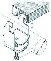 K 12 AC Kabelschelle Ø8-12 mm für Ankerschiene A8