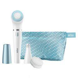 Braun 832E Face Gesichtsepilierer und Gesichtsreinigungsbürste, blau