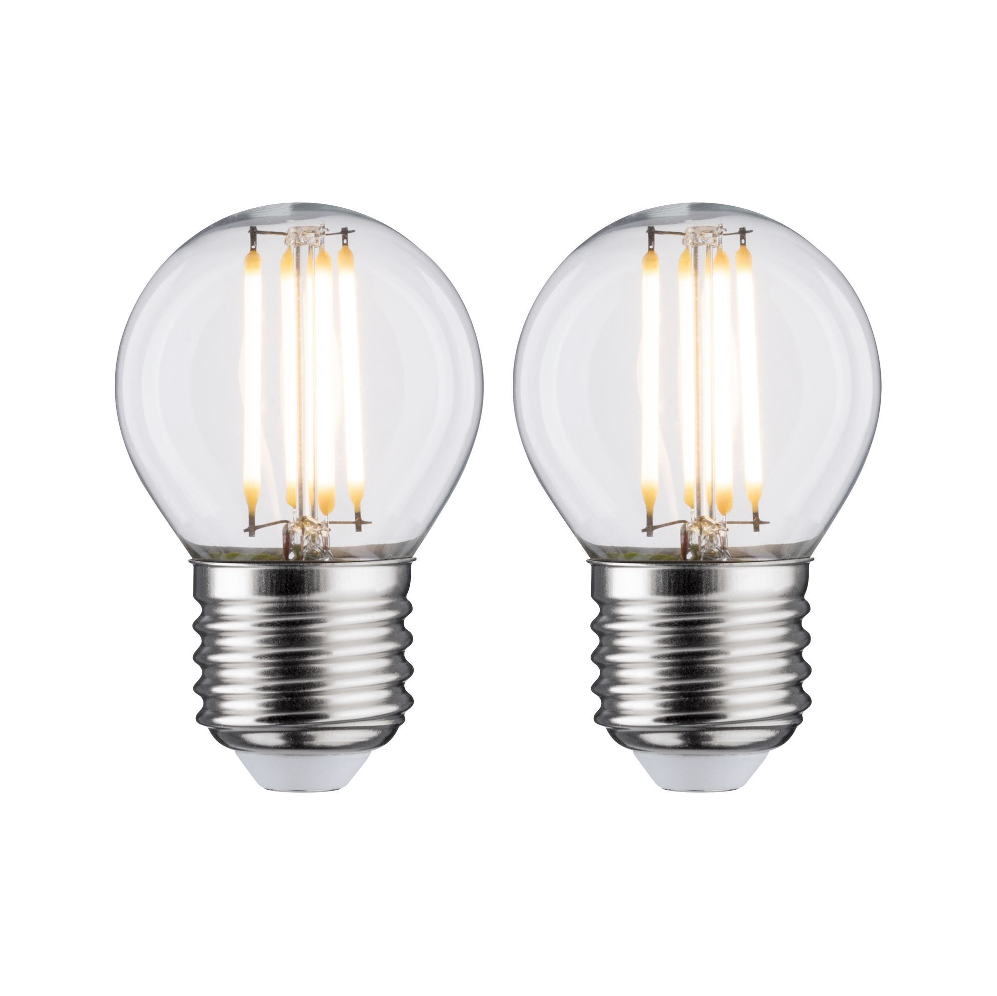 Paulmann LED Fil 2er Tropfen 470lm E27 2700K klar 5W 230V (28640)