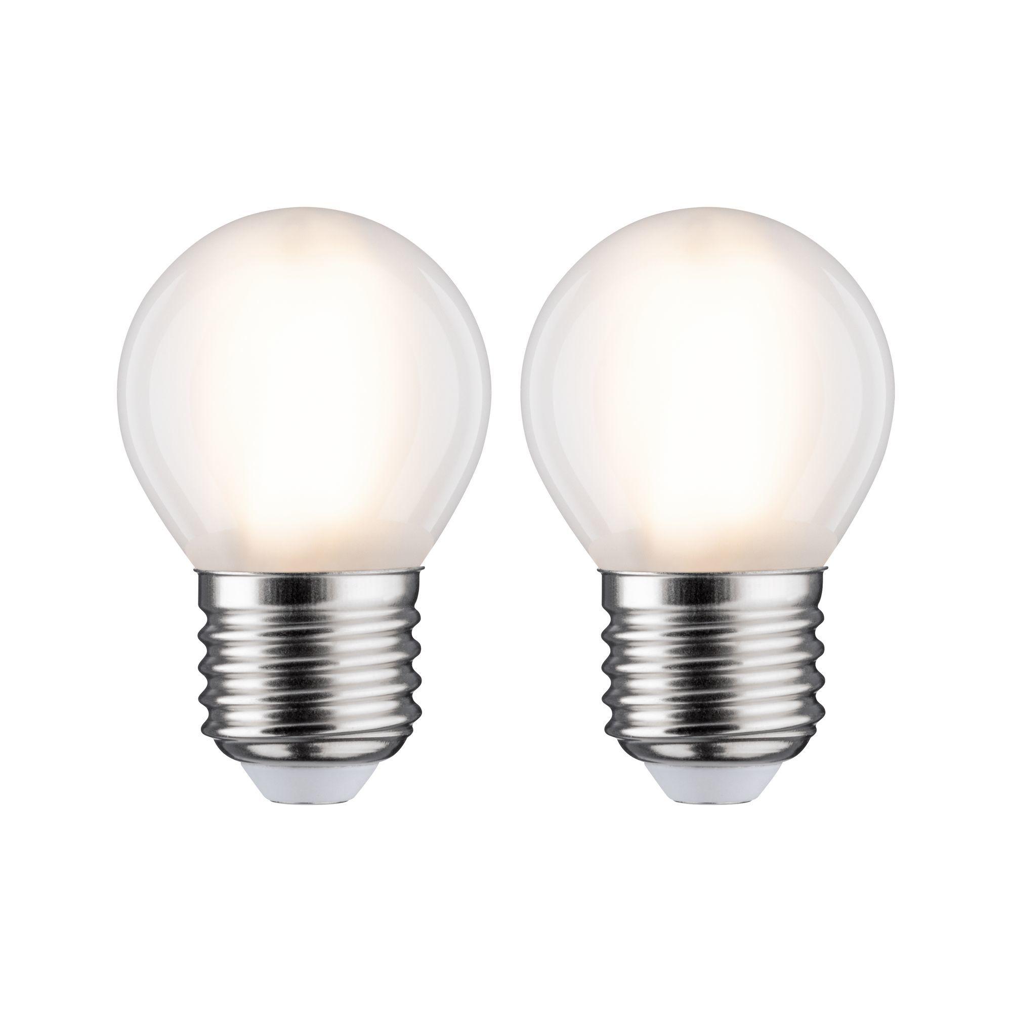 Paulmann LED Fil 2er Tropfen 470lm E27 2700K matt 5W 230V (28639)