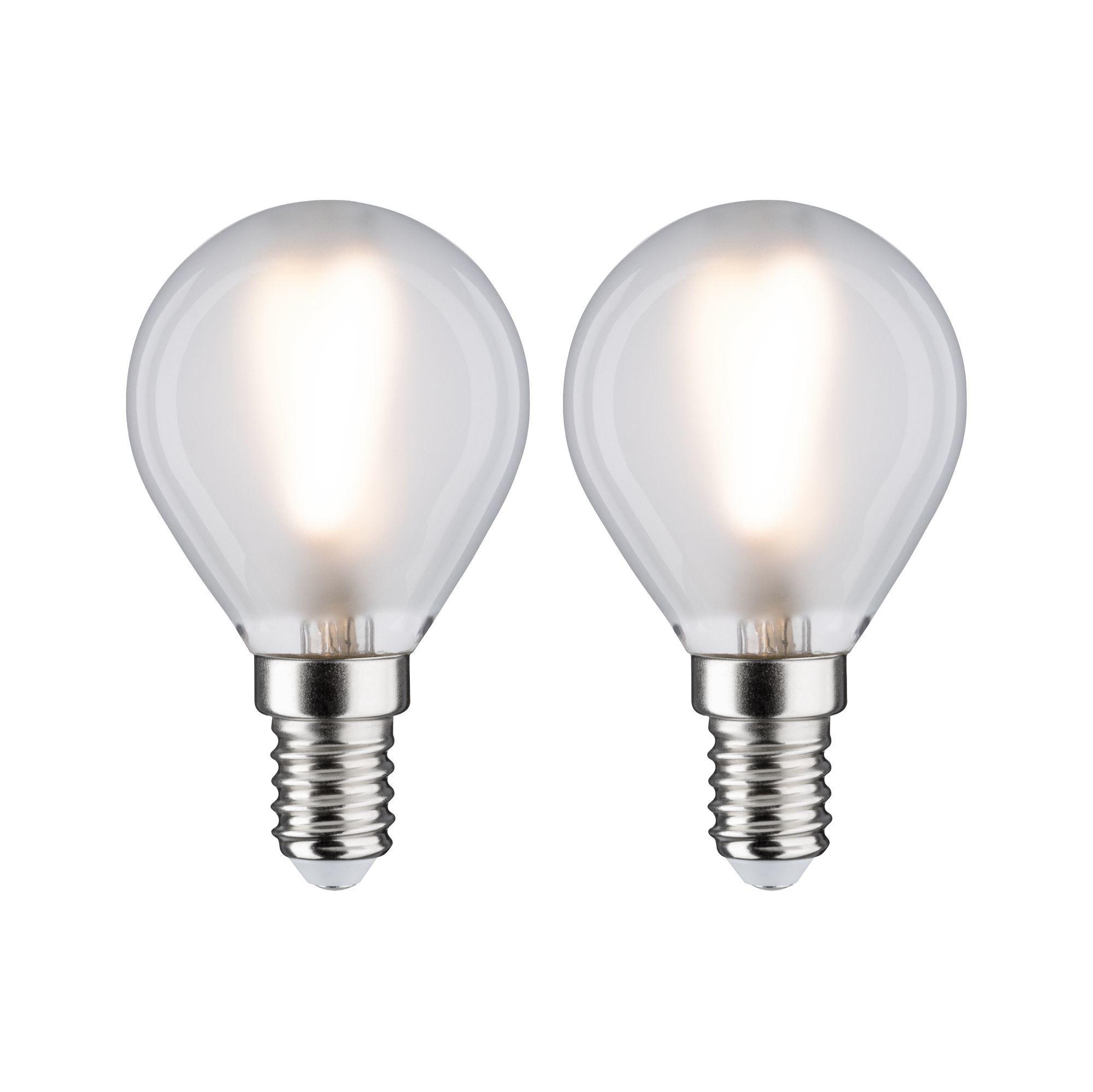 Paulmann LED Fil 2er Tropfen 250lm E14 2700K matt 3W 230V (28638)